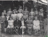 Miss Everett and her pupils, early 1940s