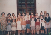 Mrs Farrell and her pupils early 1960s
