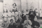 Mrs Cullup and her pupils 1920s
