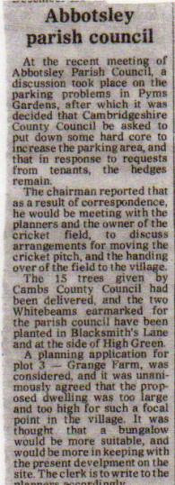 Parish Council article 1981
