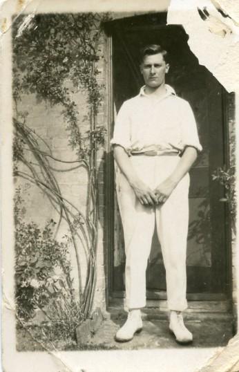 Albert Storey dressed for Cricket !
