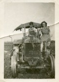 George Jeffs on tractor