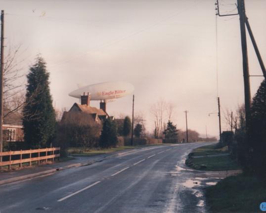 A passing airship
