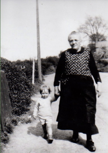 Tom Merry with his Grandmother