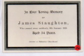 Sudden death of James Staughton