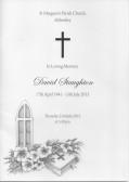 Funeral Service for David Staughton