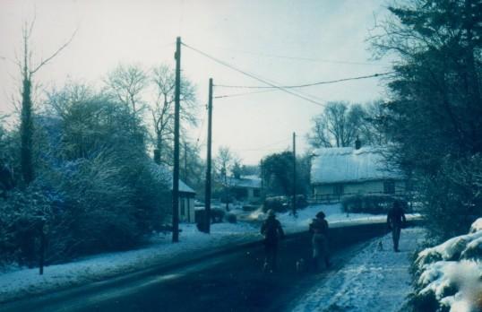 Eight Bells Corner in the snow