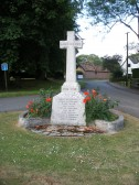 Carlton - War Memorial in centre of the village showing the men lost in the two world wars. See the added note on the names.