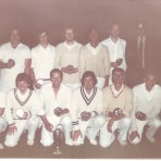 Burrough Green- The Cricket Club pose for a team photo after winning the Fairhaven Cup in the Midweek League.