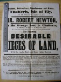 Auction poster for land sale off London Road, Chatteris