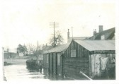 Fen Floods 1937. Believed to be Chatteris, but exact location unknown.