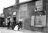 Publican William Stukins & family at Blue Ball public house, Somersham Road, Chatteris (latterly became The Crafty Fox)