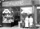 Walkers Store, High Street, Chatteris. Demolished and now site of set-back Salvation Army charity shop & Bonnetts bakers.