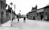 """West Park Street, Chatteris. Weedons Grocery shop  later """"Pete's Chip Shop"""" now Petrou Brothers - recently won national """"Fish shop of the year Award""""."""