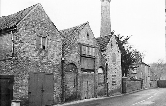The old forge/Wheelwrights, Saint Martin's Road, Chatteris. Demolished, replaced by house shown in February 2010 photo.