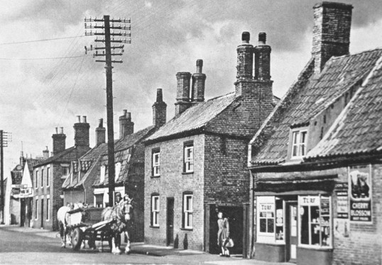 Mrs Ladds sweet shop, 93 High Street, Chatteris. Museum collection photo from the late Percy Martin of J T Martin (builders & undertakers).