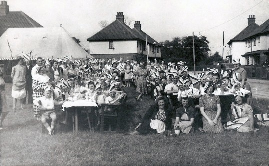 Residents enjoy the VE day (Victory in Europe) street party celebration on Burnsfield Estate, Chatteris