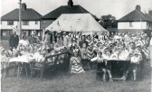 Residents enjoy the VE day (Victory in Europe) street party on Burnsfield Estate, Chatteris.