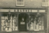 "Barnes Draper shop, 6 High Street, Chatteris.Was ""Food Office"" in WW2. Currently Bodylines Cycles. From G Aspinall collection in Chatteris museum."