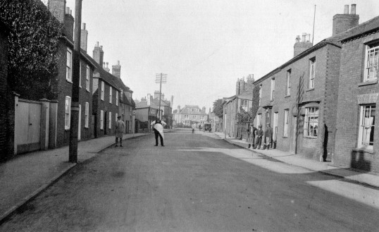 West Park Street, Chatteris. Exact date not known, Photograph with thanks from L Oakey scrapbook.. West Park Street features