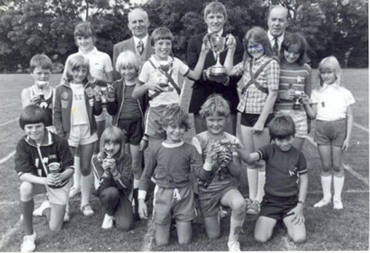 Cup winners at King Edward School sports event.  Chatteris museum collection photo.