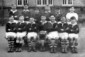 King Edward school football team, Chatteris. 1952-53 season. Photo from Ex Headmaster D R Hall bequest collection.
