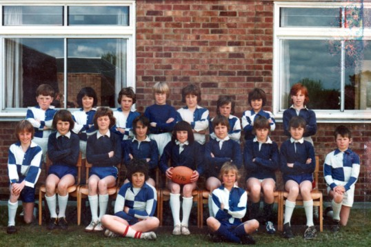 King Edward Primary School rugby teams,Chatteris. 1976