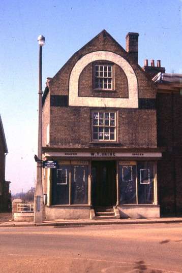 Drings Draper & Grocer shop, West Park Street, Chatteris. Demolished 1964. Now (2011) Premier estate agents.