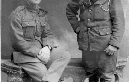 George Clare VC of Chatteris & unidentified soldier. Chatteris museum collection photo.