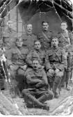 Group of unidentified WW1 soldiers.  From Chatteris soldier in the Chatteris Museum collection.
