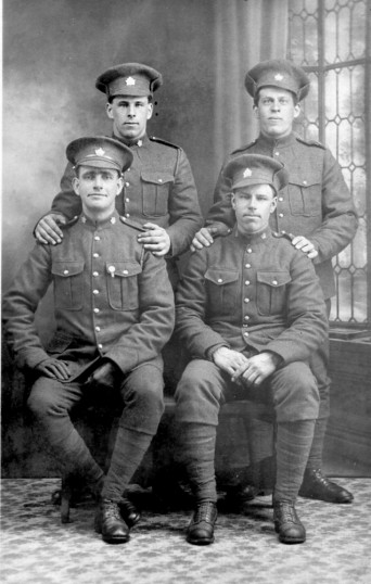 Joe Tinkler of Chatteris & unidentified soldiers for identification. From Chatteris Museum collection