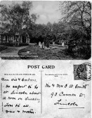 Postcard of Parochial Cemetery, Chatteris. Message from the Father and Mother of a Mr and Mrs W Smith of 93 Cannon Street, Lincoln