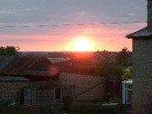 Sunset taken from London Road, Chatteris, looking towards Peterborough