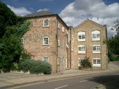Flats in Lindsells Walk, Chatteris. Building formerly Lindsells brewery & bottling works, then Coles Engineering works.