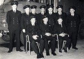 Retirement of Chatteris Fireman Sub Officer Dud Paul. Chatteris museum photo.