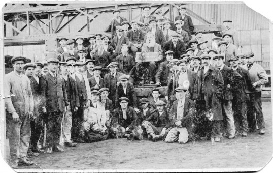 Group of workers possibly from Chatteris Engineering Works with their managers.