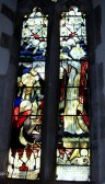 Stained Glass window in St Peter and St Paul's Church, Chatteris - memorial to George Clare V.C.