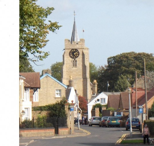 Looking towards the parish church Chatteris, from Station Street through to Cross Keys Lane