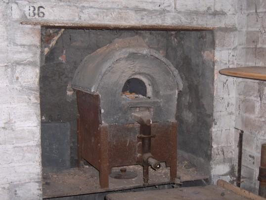 Kiln in laboratory, Westmoor House, Chatteris.