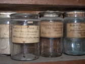 Mineral samples stored in laboratory in Westmoor House, London Road, Chatteris. Photographed with kind permission of Mr & Mrs Sinclair-Russell.