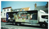 """"""" Future Present Past"""" carnival float entrant in the Chatteris Festival Carnival parade."""