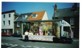 """""""Back to the Future """"float in the Chatteris Carnival Parade. """"Back to the Future """" was the theme for the carnival parade in 2000."""
