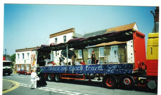 Glebelands School designed this float for the Chatteris Carnival Parade- it represented space and space travel.