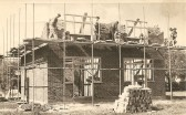 House being constructed by builders FH Bristow, thought to be in St Martin's Rd, Chatteris. Photo courtesy of Mr. D. Bristow.