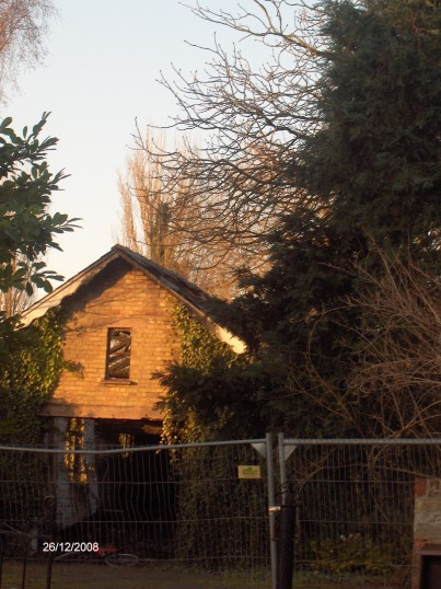 Station Street, Chatteris. Garage of home now demolished.
