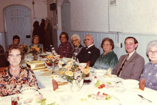 Chatteris Baptists' Women's League Anniversary dinner. Photograph supplied by L. Oakey.