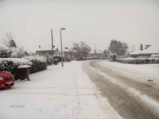 Heavy snow fall transforms London Road, Chatteris.