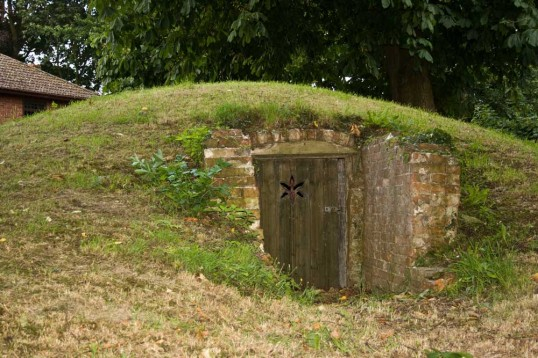 Ice house, Chatteris. Ice was stored in this specially constructed building for use in the Manor House. Photo by H Free with permission of Mr Brown.