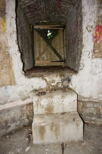View from within the ice House, Chatteris. Looking towards door and steps. Photo by H Free. Courtesy of Mr Brown.