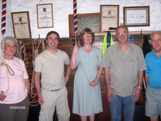 Bell ringers at St Peter & St Paul's church, Chatteris.
